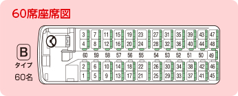 60席座席図
